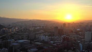 Beautiful building of Taipei city in Taiwan video