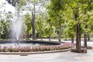 Beautiful fountain in Perdana Botanical Garden, Kuala Lumpur Malaysia. photo