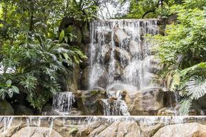 Waterfall in the Perdana Botanical Gardens in Kuala Lumpur, Malaysia. photo