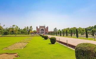 Uttar Pradesh India 10. Mai 2018 Taj Mahal Great Gate in Agra, Uttar Pradesh, India photo