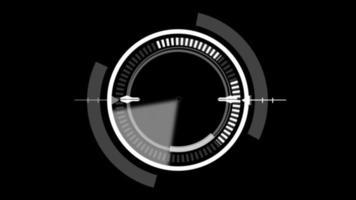 HUD Circle User interface on black background photo