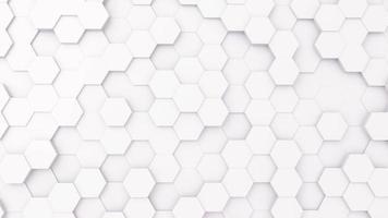 Futursitics white abstract honeycomb random surface background photo