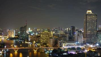 Beautiful building architecture around Bangkok city in Thailand video