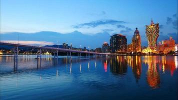 Beautiful architecture building in Macau city video