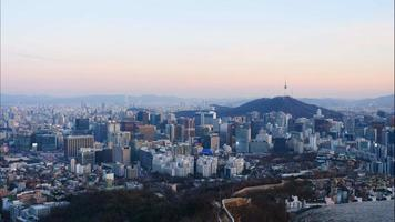 Time lapse of Seoul city in South Korea video