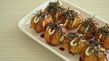 Takoyaki ball dumplings or Octopus balls - Japanese food style video