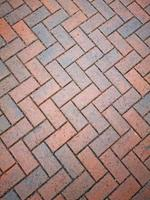 Patterned red brick floor ideal for a background photo