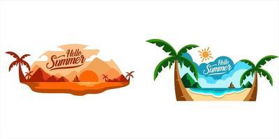 beach landscape vector