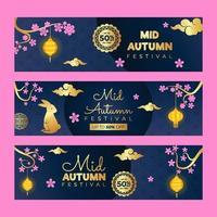 Mid Autumn Festival Marketing Banner vector