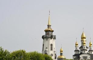 Christian church on the countryside photo