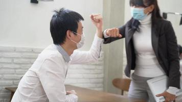 Business People Elbow Bumping video