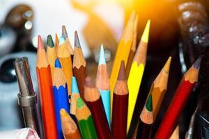 lápices de dibujo de colores foto