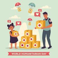 día mundial humanitario salvar a los niños vector