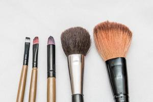 Makeup brushes with a white background in Rio de Janeiro, Brazil photo