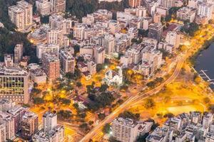 Neighborhood of Humaita seen from the top of the hill of Corcovado, Rio de Janeiro, Brazil photo