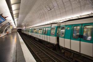 Subway station in Paris photo