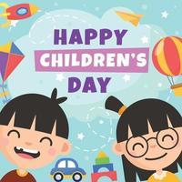 feliz dia del niño vector