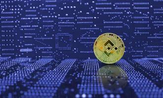 moneda de oro binance bnb criptomoneda foto