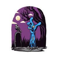 Halloween zombi hand vector illustration
