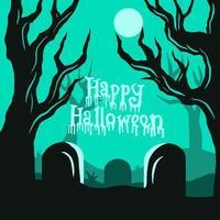 Happy hallowen background vector