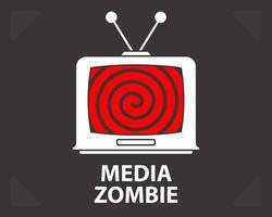 hipnosis en una vieja televisión. mala propaganda. ilustración vectorial plana. vector