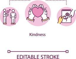 Kindness concept icon vector