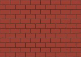 Seamless red brick wall background vector illustration