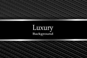 Luxurious background Dark carbon fiber with metallic lines vector
