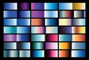80s Chrome Gradients for type and backgrounds vector