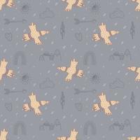 moderno de patrones sin fisuras con águila pájaro vector