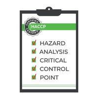 HACCP. Hazard analysis critical control points icon. Vector