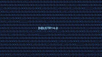 Industrial 4.0 blue digital matrix bacgkground photo