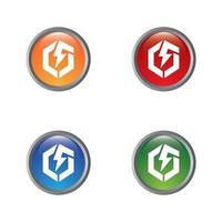 Electric icon design vector