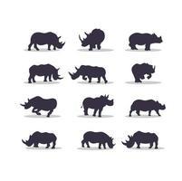 Rhino silhouette vector illustration design