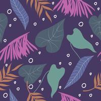 Abstract colorful leaves surface pattern seamless background vector