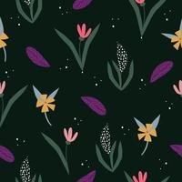 Cute  vintage floral pattern seamless background vector