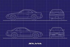 Drawing Outline Stroke Japan Sport Car Vector file