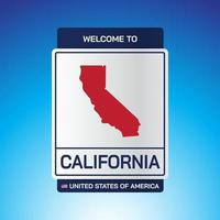 The Sign United states of America with message, California and map vector