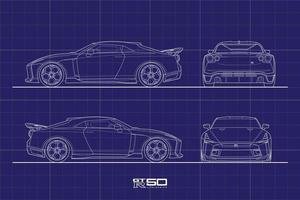 Drawing Outline Stroke Japan Sport Car vector