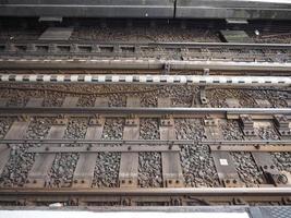 Railroad railway tracks photo