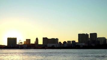 Beautiful sunset at Tokyo city skyline in Japan video