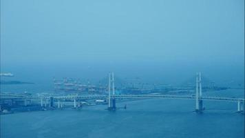 Bridges around Yokohama city in Japan video