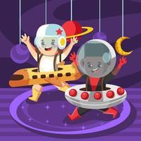 Happy Dream Professions for Children Day vector