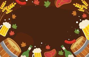 Oktoberfest Festival Background vector