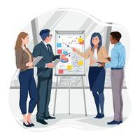Professional Teamwork Collaboration Concept vector