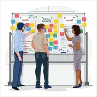 Professional People in Planning Works Concept vector
