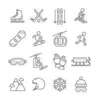 Winter Sport Activities Icon vector
