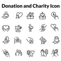 Simple Set of Donations and Charity Related Vector Line Icons