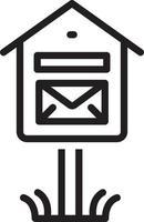 icono de línea para buzón de correo vector