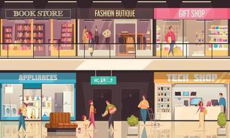 Shopping Mall Illustration vector